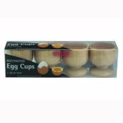 Set 4 Pack of Beechwood Breakfast Egg Cups