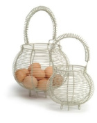 Small Clay Egg Ball Wire Basket