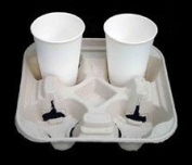 GSL - 10 x 4 Cup Paper Cardboard Tray Holder Carrier - ECO BIO Friendly, made from recycled paper in the UK