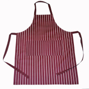 COOKING NOVELTY APRONS WINE BURGANDY AND WHITE STRIPES. BBQ CHEF APRON OVERALL
