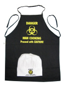 Gift House International Danger Man Cooking Apron and Chef's Hat Set