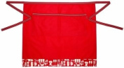 Metro Kitchen Half Apron in Red Patterned