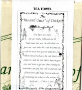 THE INS AND OUTS OF CRICKET Tea Towel 100% Cotton