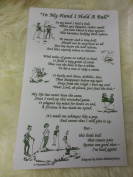 'In My Hand I Hold A Ball' Tea Towel