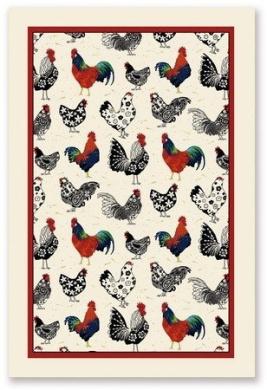 Ulster Weaver Rooster Linen Tea Towel