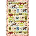 Down On The Farm Linen Tea Towel