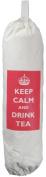Keep Calm and Drink Tea - Carrier Bag Holder - Natural cotton plastic bag storage