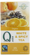 Qi Organic White and Spicy 25 Teabags