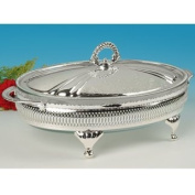 Casserole Dish in Silver Plated serving Frame British Made,