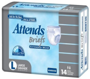 Attends Adult Briefs, Nappy Style, Extended Wear
