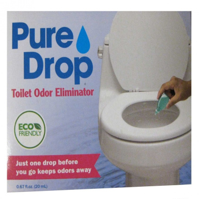 Pure Drop Toilet Odour Eliminator, Just One Drop Before You Go Keeps Odours  Away.