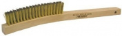 Plater's Hand Brushes - ebh 3 x 7 brass brush with wood handle