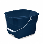 Rubbermaid FG287100ROYBL Roughneck Square Bucket, 14.2l, Blue
