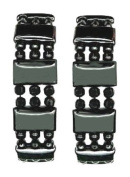 Pair Of 2 Hematite Magnetic Therapy Bracelets - Extra Wide