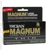 Trojan Magnum THIN Condoms - Quantity - Box of 36