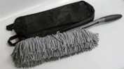 Real Clean Large Microfiber Hand Duster (Grey) with Storage Case