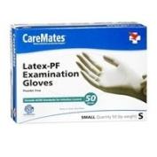 Caremates Caremates Latex-Pf Examination Gloves Small