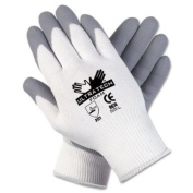 MCR Safety 9674XL Ultratech Foam Seamless 15 Gauge Nylon Knit Gloves with Straight Thumb, Grey/White, X-Large