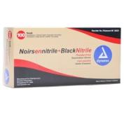Dynarex Black Nitrile Exam Gloves, Box/100