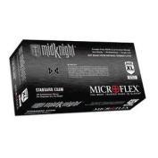 Microflex (MFXMK296XL) MidKnight Black Powder-Free Nitrile Examination Gloves - XL