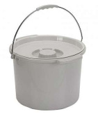 Commode Bucket with Handle and Cover - 11.4l