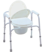 Bedside Commode/Toilet Seat/Safety Rails - All in One Commode