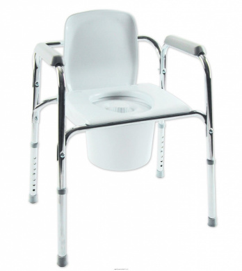 All-In-One Aluminium Commode, All in One Alum Commode, (1 EACH, 1 EACH)