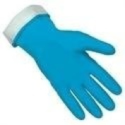(12 Pair) 5299B Memphis Blue Flock-Lined Latex Glove, Size 10 - 10 1/2