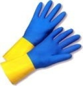 Flock Lined Neoprene Over Latex 33cm length Gloves (Sold by Dozen) Large Size
