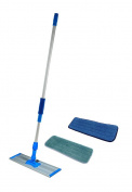 Commercial and Janitorial 120cm Microfiber Mop With Telescoping Aluminium Handle and Two Microfiber Mop Pads