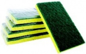 Premiere Pads Green & Yellow Backed Scrubber Sponge PAD174