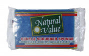 Natural Value Gentle Scrubber Sponge, Black