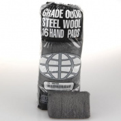 Global Material Technologies GMT 117003 Ind-Qlty Steel Wool Hand Pad #0 Med Fine 12/6