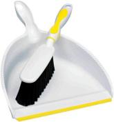 O-Cedar Snap-On Brush & Dust Pan Set