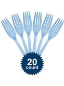Light Blue Plastic Forks