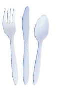 2410043 PT# F6BW FORk Utensil Plastic Medium Weight Disposable White 1000/Ca Made by Dart Container, Inc.