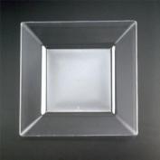 Square Plastic Salad Plates, 20cm - 10 Count