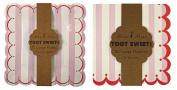Meri Meri Pink Stripe Toot Sweet Large Plates and Napkins