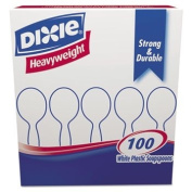 Plastic Cutlery, Heavyweight Soup Spoons, White, 100/Box