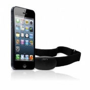 Jarv Premium Bluetooth® 4.0 Smart heart rate monitor for IPhone 4S / IPhone 5 / IPad Mini / new IPod Touch and other Bluetooth devices (iOS only) Black