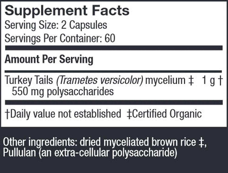 Host Defence - Turkey Tail Mushroom Capsules, Naturally Supports Immune  Response, Non-GMO, Vegan, Organic, 60 Count