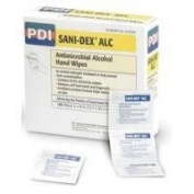 PDI Sani-Dex Alc Antimicrobial Alcohol Gel Hand Wipes, 1000 Individual Packets
