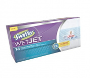 "WetJet System Refill Cloths, 10"", White, 14/Box"