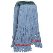 Rubbermaid Commercial FGA25206 Web Foot Shrinkless Wet Mop, Medium, 13cm Green Headband, Blue