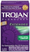 Extend Your Pleasure With Just A Hint Of Numbing Agent - Trojan pleasures extended 12pk