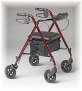 Super Light Rollator by Rollators Light Weight in Burgundy - 11 Pounds