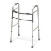 Medline Two-Button Folding Walkers without Wheels