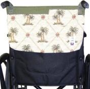Handi Pockets 3c5ip Storage Accessory Wheelchair, Tapestry, Island Palm with Flap