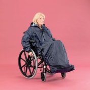 Wheelchair Mac with Sleeves Lined