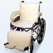 Sheepskin Wheelchair Covers in Cream Model